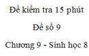Đề kiểm tra 15 phút - Đề số 9 - Chương 9 - Sinh học 8