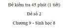 Đề kiểm tra 45 phút (1 tiết) - Đề số 2 - Chương 9 - Sinh học 8