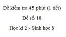 Đề kiểm tra 45 phút (1 tiết) - Đề số 18 - Học kì 2  - Sinh học 8
