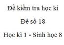 Đề số 18 - Đề kiểm tra học kì 1 - Sinh học 8