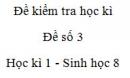 Đề số 3 - Đề kiểm tra học kì 1 - Sinh học 8