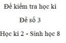 Đề số 3 - Đề kiểm tra học kì 2 - Sinh học 8