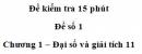Đề kiểm tra 15 phút – Chương 1 – Đề số 1 – Đại số và giải tích 11