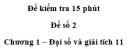 Đề kiểm tra 15 phút – Chương 1 – Đề số 2 – Đại số và giải tích 11