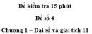 Đề kiểm tra 15 phút – Chương 1 – Đề số 4 – Đại số và giải tích 11