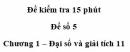 Đề kiểm tra 15 phút – Chương 1 – Đề số 5 – Đại số và giải tích 11