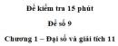 Đề kiểm tra 15 phút – Chương 1 – Đề số 9 – Đại số và giải tích 11