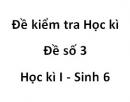 Đề số 3 - Đề kiểm tra học kì 1 - Sinh học  6