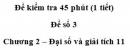 Đề kiểm tra 45 phút (1 tiết) – Chương 2 – Đề số 3 – Đại số và giải tích 11