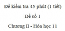 Đề kiểm tra 1 tiết (45 phút) - Đề số 1 - Chương II - Hóa học 11