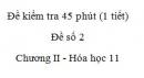 Đề kiểm tra 1 tiết (45 phút) - Đề số 2 - Chương II - Hóa học 11