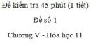 Đề kiểm tra 1 tiết (45 phút) - Đề số 1 - Chương V - Hóa học 11
