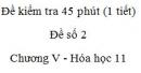 Đề kiểm tra 1 tiết (45 phút) - Đề số 2 - Chương V - Hóa học 11