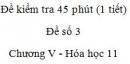 Đề kiểm tra 1 tiết (45 phút) - Đề số 3 - Chương V - Hóa học 11