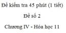 Đề kiểm tra 1 tiết (45 phút) - Đề số 2 - Chương IV - Hóa học 11