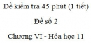 Đề kiểm tra 1 tiết (45 phút) - Đề số 2 - Chương VI - Hóa học 11