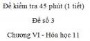 Đề kiểm tra 1 tiết (45 phút) - Đề số 3 - Chương VI - Hóa học 11