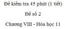 Đề kiểm tra 1 tiết (45 phút) - Đề số 2 - Chương VIII - Hóa học 11