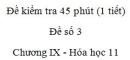 Đề kiểm tra 1 tiết (45 phút) - Đề số 3 - Chương IX - Hóa học 11