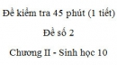 Đề kiểm tra 45 phút (1 tiết) - Đề số 2 - Chương II - Phần 2 -  Sinh học 10