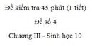 Đề kiểm tra 45 phút (1 tiết) - Đề số 4 - Chương III - Phần 2 -  Sinh học 10