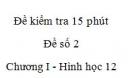 Đề kiểm tra 15 phút - Đề số 2 - Chương I - Hình học 12