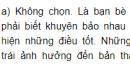 Bài 1 trang 18 SGK Đạo đức 5