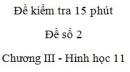 Đề kiểm tra 15 phút - Đề số 2 - Chương 3 - Hình học 11