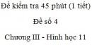 Đề kiểm tra 45 phút (1 tiết) - Đề số 4 - Chương 3 - Hình học 11