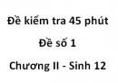 Đề kiểm tra 45 phút - Đề số 1 - Chương II - Sinh 12