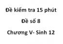 Đề kiểm tra 15 phút - Đề số 8 - Chương V - Sinh 12