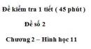 Đề kiểm tra 45 phút (1 tiết) - Đề số 2 - Chương 1 - Hình học 11