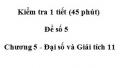 Đề kiểm tra 45 phút ( 1 tiết) - Đề số 5 - Chương 5 - Đại số và Giải tích 11