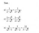 Bài 8 trang 29 Tài liệu dạy – học Toán 9 tập 1