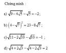Bài 9 trang 18 Tài liệu dạy – học Toán 9 tập 1
