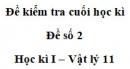 Đề số 11 - Đề kiểm tra học kì 1 - Vật lí 11