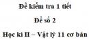 Đề số 6 - Đề kiểm tra học kì 2 - Vật lí 11