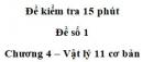 Đề kiểm tra 15 phút – Chương 4 – Đề số 1 – Vật lý 11