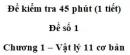 Đề kiểm tra 45 phút (1 tiết) – Chương 1 – Đề số 1 – Vật lý 11