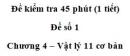 Đề kiểm tra 45 phút (1 tiết) – Chương 4 – Đề số 1 – Vật lý 11