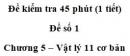 Đề kiểm tra 45 phút (1 tiết) – Chương 5 – Đề số 1 – Vật lý 11