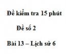 Đề kiểm tra 15 phút chương 2 phần 2 - Đề số 10