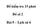 Đề kiểm tra 15 phút chương 1 phần 2 - Đề số 5