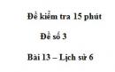Đề kiểm tra 15 phút chương 2 phần 2 - Đề số 11