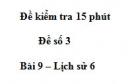 Đề kiểm tra 15 phút chương 1 phần 2 - Đề số 6