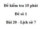 Đề kiểm tra 15 phút chương 4 phần 2 - Đề số 7