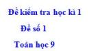 Đề số 1 - Đề kiểm tra học kì 1 - Toán 9