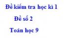 Đề số 2 - Đề kiểm tra học kì 1 - Toán 9