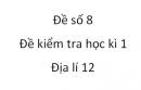 Đề số 8 - Đề kiểm tra học kì 1 (Đề thi học kì 1) – Địa lí 12