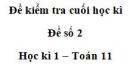 Đề số 2 – Đề kiểm tra học kì 1 – Toán 11
